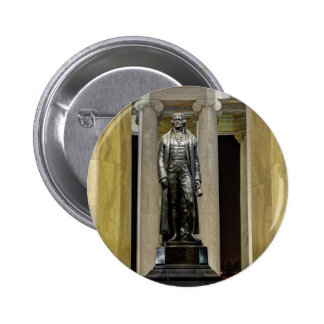 Thomas Jefferson Memorial Statue At Night 2 Inch Round Button