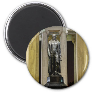 Thomas Jefferson Memorial Statue At Night 2 Inch Round Magnet