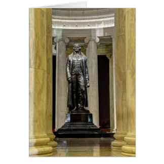 Thomas Jefferson Memorial Statue At Night Card