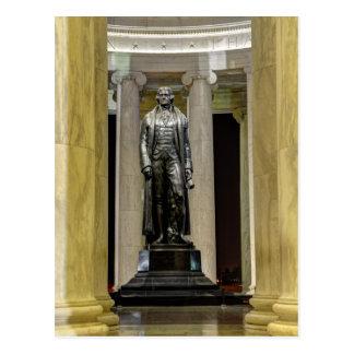 Thomas Jefferson Memorial Statue At Night Postcard