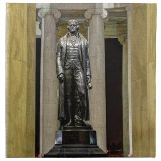 Thomas Jefferson Memorial Statue At Night Printed Napkin