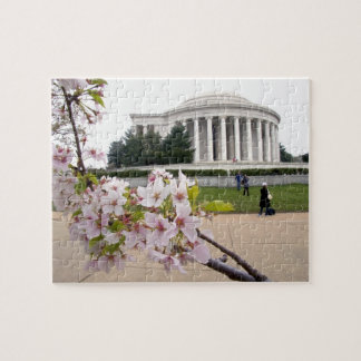 Thomas Jefferson Memorial with cherry blossoms Puzzle