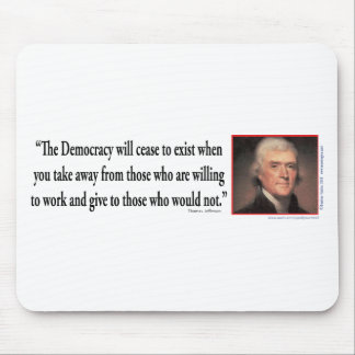 Thomas Jefferson On Democracy Mouse Pad