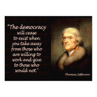 Thomas Jefferson on the End of Democracy Card