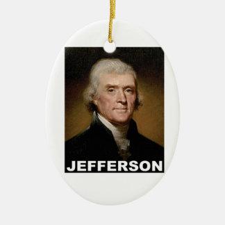 Thomas Jefferson picture Ceramic Oval Ornament