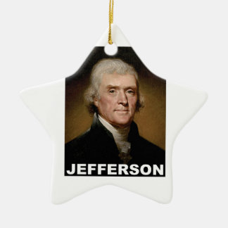 Thomas Jefferson picture Ceramic Star Ornament