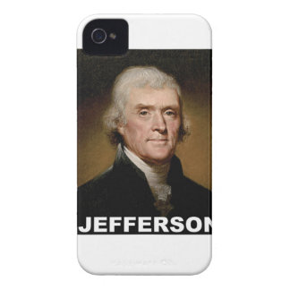 Thomas Jefferson picture iPhone 4 Case-Mate Cases