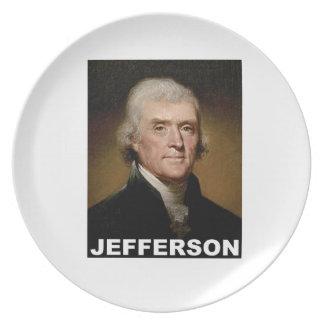 Thomas Jefferson picture Party Plates