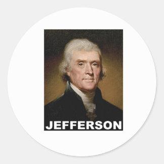 Thomas Jefferson picture Round Sticker