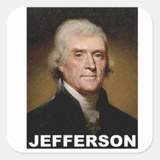 Thomas Jefferson picture Square Sticker