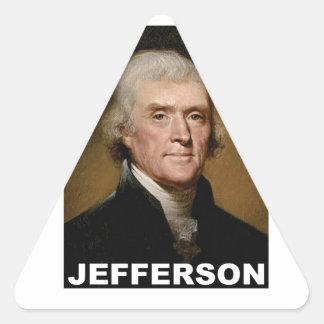 Thomas Jefferson picture Triangle Sticker