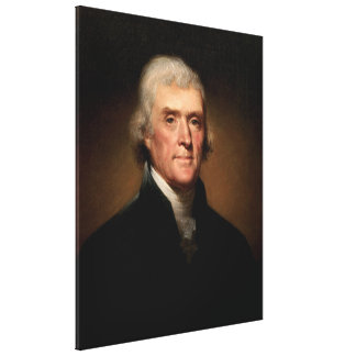 THOMAS JEFFERSON Portrait by Rembrandt Peale Canvas Print