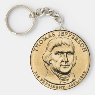 Thomas Jefferson Presidential $1 Coin Keychain