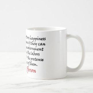Thomas Jefferson: Prevent The Government Coffee Mug
