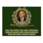 Thomas Jefferson Quote: Government & the People Post Cards