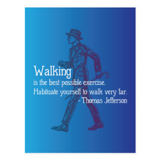 Thomas Jefferson Quote on Walking Postcard