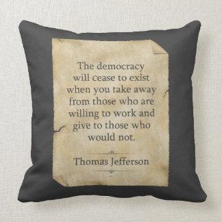 Thomas Jefferson Quote Pillow
