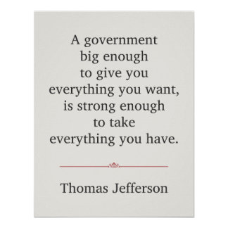 Thomas Jefferson Quote Poster