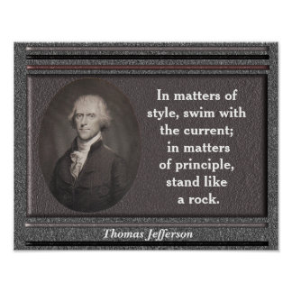 Thomas Jefferson quote - poster
