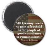 Thomas Jefferson Quote Refrigerator Magnets