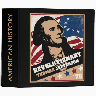 Thomas Jefferson Revolutionary Custom Binder