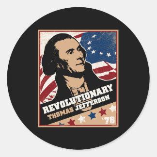 Thomas Jefferson Revolutionary Sticker