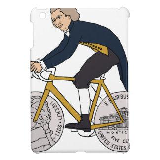 Thomas Jefferson Riding Bike W/ Nickel Wheels iPad Mini Cases