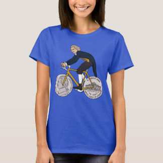 Thomas Jefferson Riding Bike W/ Nickel Wheels T-Shirt