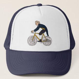 Thomas Jefferson Riding Bike W/ Nickel Wheels Trucker Hat