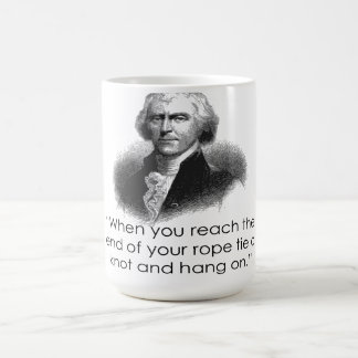 Thomas Jefferson Rope Quote Mug