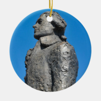 Thomas Jefferson Round Ceramic Ornament