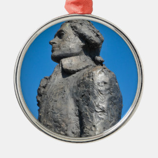 Thomas Jefferson Silver-Colored Round Ornament