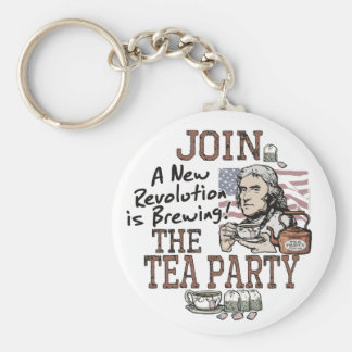 Thomas Jefferson Tea Party Shirts and Gifts Basic Round Button Keychain
