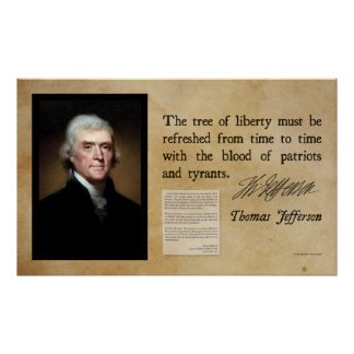 Thomas Jefferson - Tree of Liberty Poster
