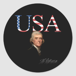 Thomas Jefferson USA Sticker