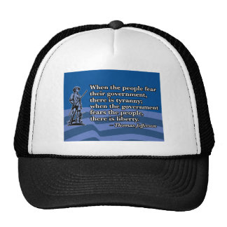 Thomas Jefferson, When people fear Government v2 Mesh Hat