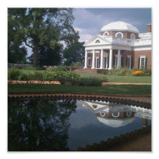 Thomas Jefferson's Monticello Poster