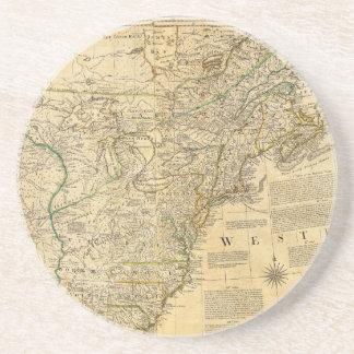 Thomas Jefferys' 1776 American Atlas Map Coaster