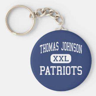 Thomas Johnson - Patriots - High - Frederick Basic Round Button Keychain