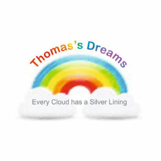 thomas logo standing photo sculpture