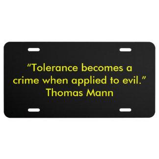 Thomas Mann License Plate