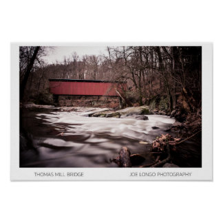 Thomas Mill Bridge #2- The Wissahickon Collection Poster