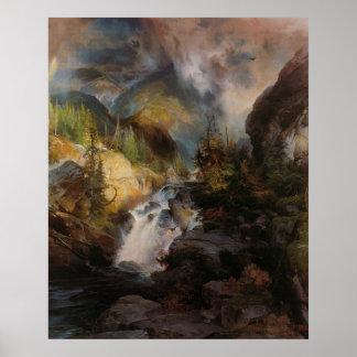 Thomas Moran - Children of the Mountain Poster