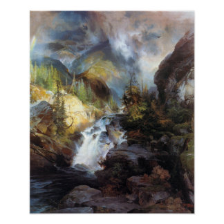 Thomas Moran Children of the Mountain Poster