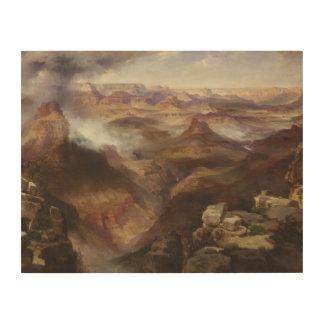 Thomas Moran - Grand Canyon of the Colorado River Wood Print