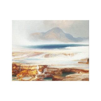 Thomas Moran - Hot Springs of the Yellowstone Canvas Print