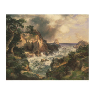 Thomas Moran - Point Lobos, Monterey, California Wood Canvases