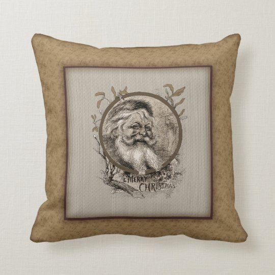 Thomas Nast Santa Claus Christmas Pillow