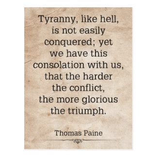 Thomas Paine #1 Postcard