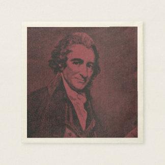 Thomas Paine Birthday Napkins (antiqued) Disposable Napkin